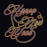 Kreatywnie nowego roku powitanie Zdjęcia Stock