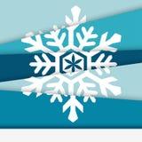 Kreatywnie nowy rok karta Asymetryczny płatek śniegu Zdjęcie Stock