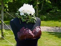 Kreatywnie ogrodowa rzeźba robić z roślinami fotografia stock