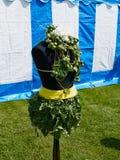 Kreatywnie ogrodowa rzeźba robić z roślinami zdjęcie stock