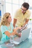 Kreatywnie partnery biznesowi pracuje wpólnie Obraz Stock