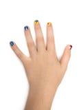 Kreatywnie paznokcia obraz z gwoździa połyskiem Obraz Royalty Free