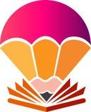 Kreatywnie pióro spadochronu logo ilustracji
