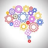 Kreatywnie pojęcie ludzki mózg przekładnia - wektorowa ilustracja royalty ilustracja