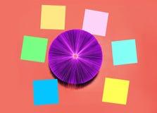 Kreatywnie pojęcie - wiele kolorowi majchery Obraz Royalty Free