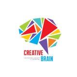 Kreatywnie pomysł - biznesowa wektorowa loga szablonu pojęcia ilustracja Zdjęcie Stock