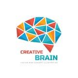 Kreatywnie pomysł - biznesowa wektorowa loga szablonu pojęcia ilustracja Zdjęcia Stock