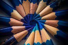 Kreatywnie pomysł z błękitnymi ołówkami obrazy royalty free