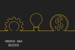 Kreatywnie pomysłu pojęcie robi pieniądze Obraz Stock