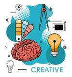 Kreatywnie pomysły i kolory royalty ilustracja