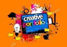 kreatywnie portfolio Obrazy Stock