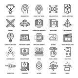 Kreatywnie Proces ikony royalty ilustracja