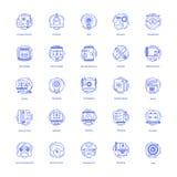 Kreatywnie projektów ikon Kreskowa paczka ilustracja wektor