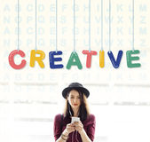 Kreatywnie projektów pomysłów twórczości wyobraźni innowaci pojęcie Obraz Stock