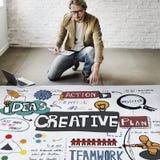 Kreatywnie projekt innowacja Inspiruje pojęcie obrazy royalty free