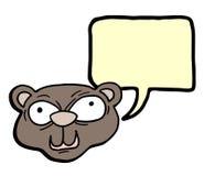 Wiewiórcza rozmowa ilustracja wektor