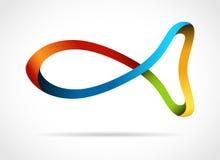 kreatywnie projekta ryba symbol Zdjęcie Royalty Free