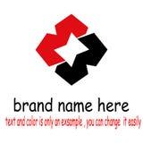 Kreatywnie przecinający logo ilustracji