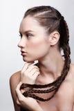 kreatywnie robi dziewczyna włosy zdjęcie stock
