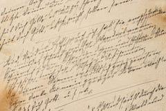 Kreatywnie rocznika papieru tekstura Handwriting stonowany tło obrazy stock