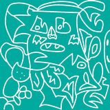 Kreatywnie rysunkowa dziewczyna gubjąca w drewnach Obraz Royalty Free
