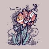 kreatywnie rysunkowa orchidea Obraz Stock