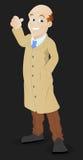 Pytać dźwignięcie Wektorowa ilustracja - postać z kreskówki - royalty ilustracja