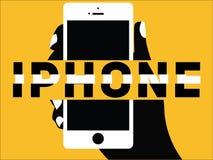 Kreatywnie słowa pojęcia iPhone i ikony ilustracyjni ilustracja wektor