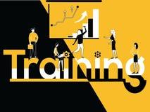 Kreatywnie słowa pojęcia szkolenie i ludzie robi wieloskładnikowym aktywność ilustracji