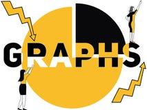 Kreatywnie słowa pojęcia wykresy i kobiety robi rzeczom royalty ilustracja