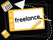 Kreatywnie słowa pojęcie Freelance i ikony ilustracyjne royalty ilustracja