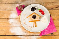 Kreatywnie słodka kanapka Fotografia Stock