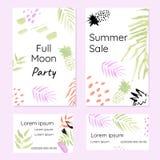 Kreatywnie set promocyjne broszurki i wizytówki Zdjęcia Stock