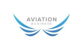 Kreatywnie Skrzydłowy symbol Lotnictwa i linii lotniczych Powiązany biznes Obrazy Royalty Free