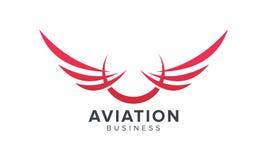 Kreatywnie Skrzydłowy symbol Lotnictwa i linii lotniczych Powiązany biznes Zdjęcie Royalty Free