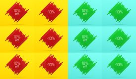 Kreatywnie sprzedaż sztandar z 10 Daleko licytant royalty ilustracja