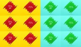 Kreatywnie sprzedaż sztandar z 75 Daleko licytant ilustracja wektor