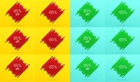 Kreatywnie sprzedaż sztandar z 85 Daleko licytant royalty ilustracja