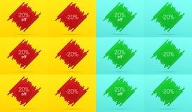 Kreatywnie sprzedaż sztandar z 20 Daleko licytant ilustracji