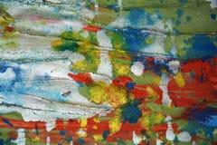 Kreatywnie srebnej czerwonej pastel błotnistej akwareli żywi pluśnięcia, farby abstrakcjonistyczny kreatywnie tło Fotografia Royalty Free