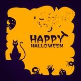Kreatywnie straszny tło dla Halloween przyjęcia Obraz Royalty Free