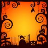 Kreatywnie straszny tło dla Halloween przyjęcia Fotografia Royalty Free