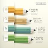 Kreatywnie szablon ołówkowa prętowa mapa infographic royalty ilustracja