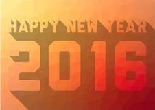 Kreatywnie Szczęśliwa nowego roku 2016 karta z długim cieniem Zdjęcia Stock