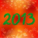 Kreatywnie szczęśliwy nowego roku 2013 projekt royalty ilustracja