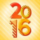 Kreatywnie Szczęśliwy nowy rok 2016 liczb dekoracyjny ilustracja wektor