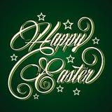 Kreatywnie Szczęśliwy Wielkanocny powitanie Obraz Stock