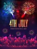 Kreatywnie sztandar dla Amerykańskiego dnia niepodległości lub plakat Obrazy Royalty Free
