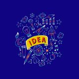 Kreatywnie sztuk doodles royalty ilustracja