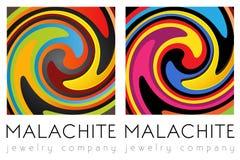 Kreatywnie sztuka, malachitowy szablonu set Fotografia Royalty Free